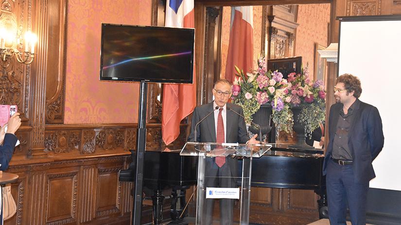 Le président M. Frédéric Grasset et M. Guillaume Denglos.  ©EC/FM-GACMT