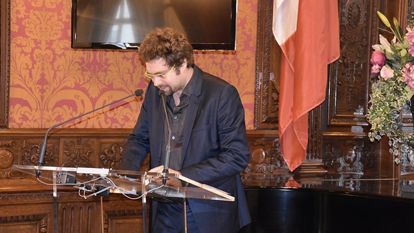 M. Guillaume Denglos faisant son discours de remerciements. ©EC/FM-GACMT