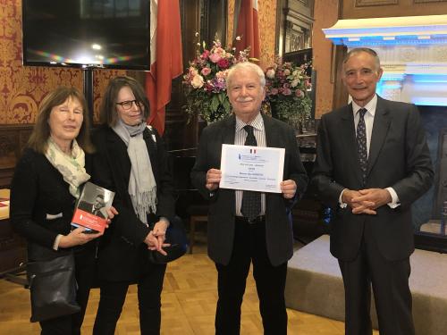 De gauche à droite : Mme Françoise Mazeline, Mme Dominique Salan, M. Alain Herbeth et le Président Frédéric Grasset (c) EC/FM-GACMT 2019