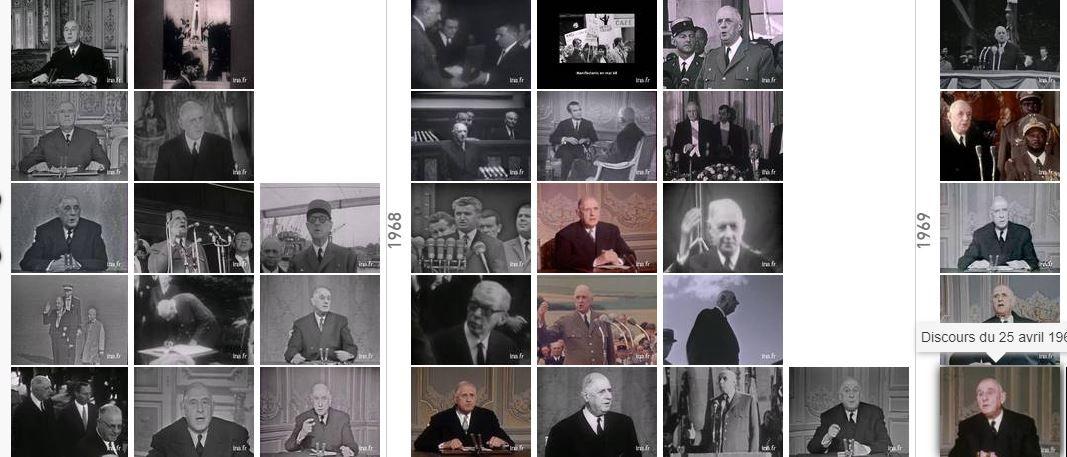 Archives ina : Allocution radio-télévisée du général de Gaulle