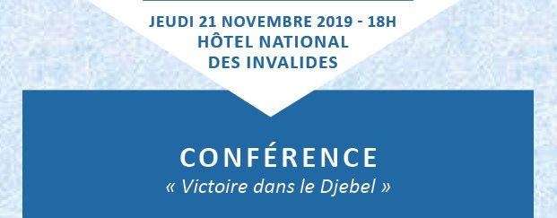 Conférence de la FMGACMT, le 21 novembre 2019 : « Victoire dans le Djebel »