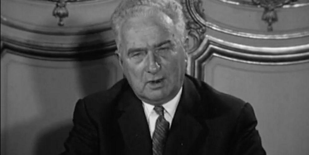 Archives ina : Rentrée 1962 en Algérie, Monsieur Joxe parle aux enseignants