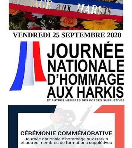 25 SEPT 2020 : Journée nationale d'hommage aux Harkis...
