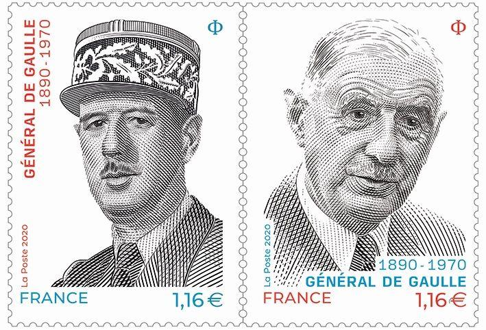 Un timbre à l'effigie du général de Gaulle